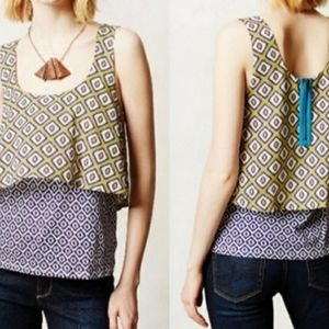 Anthropologie Meadow Layered Tank